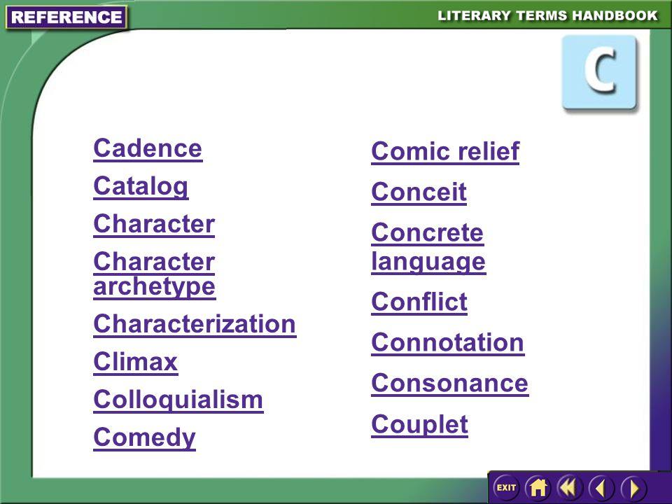 "Presentation ""Splash Screen. Literary Terms Menu A Main Menu ..."