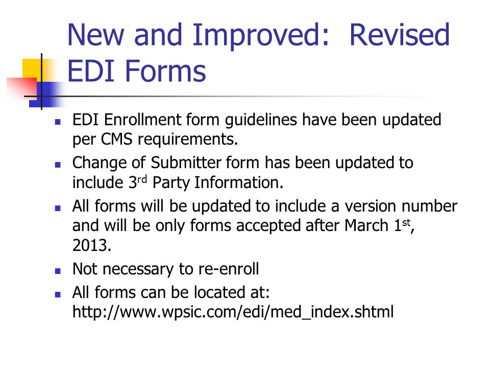 Medicare Fee For Service (FFS) EDI ACT (February 14, 2013) - ppt ...