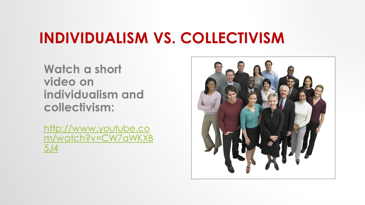 a paper on collectivism and individualism Individualism 399 philosophy is the exploration of the possibility of societies in which there are some desirable attributes of both collectivism and individualism (taylor, 1989).