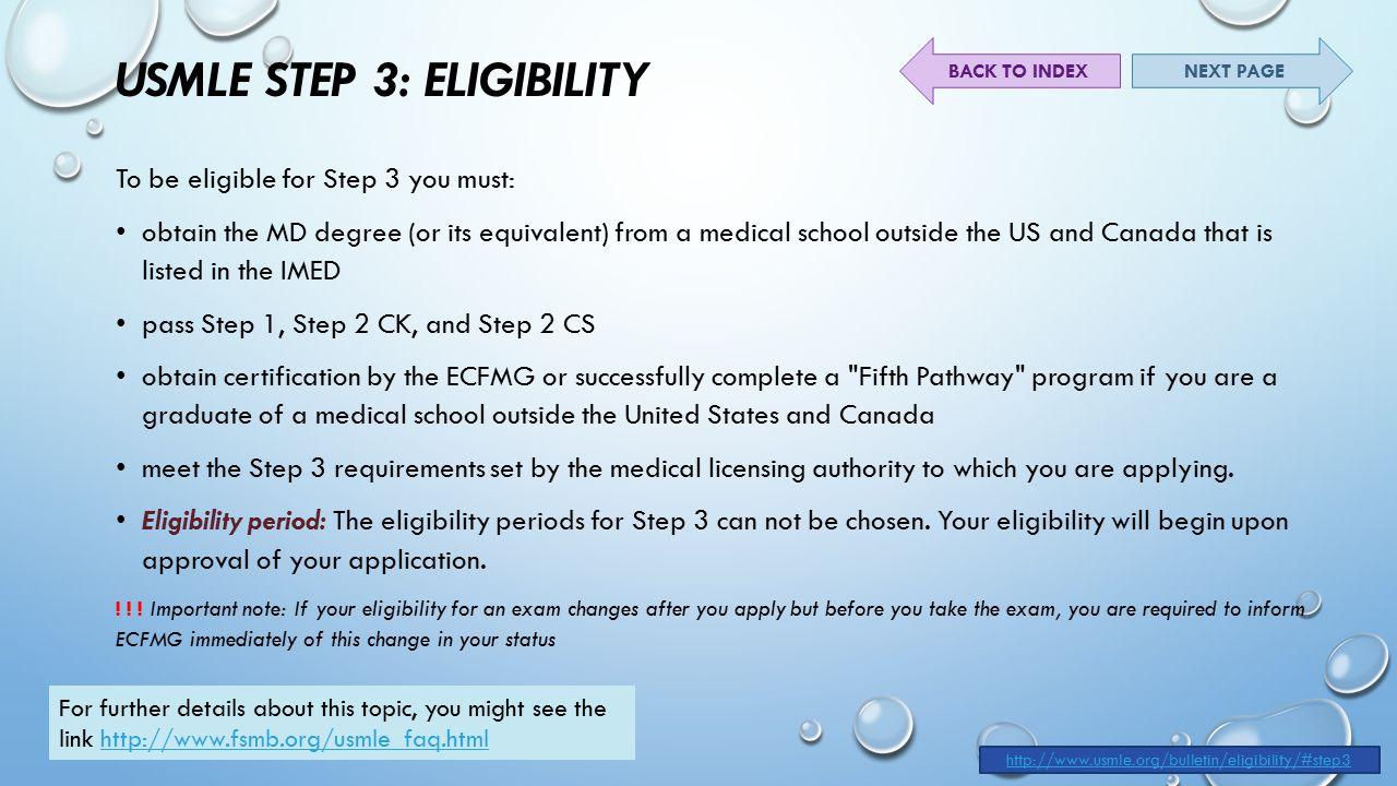 Medical School eligibility?