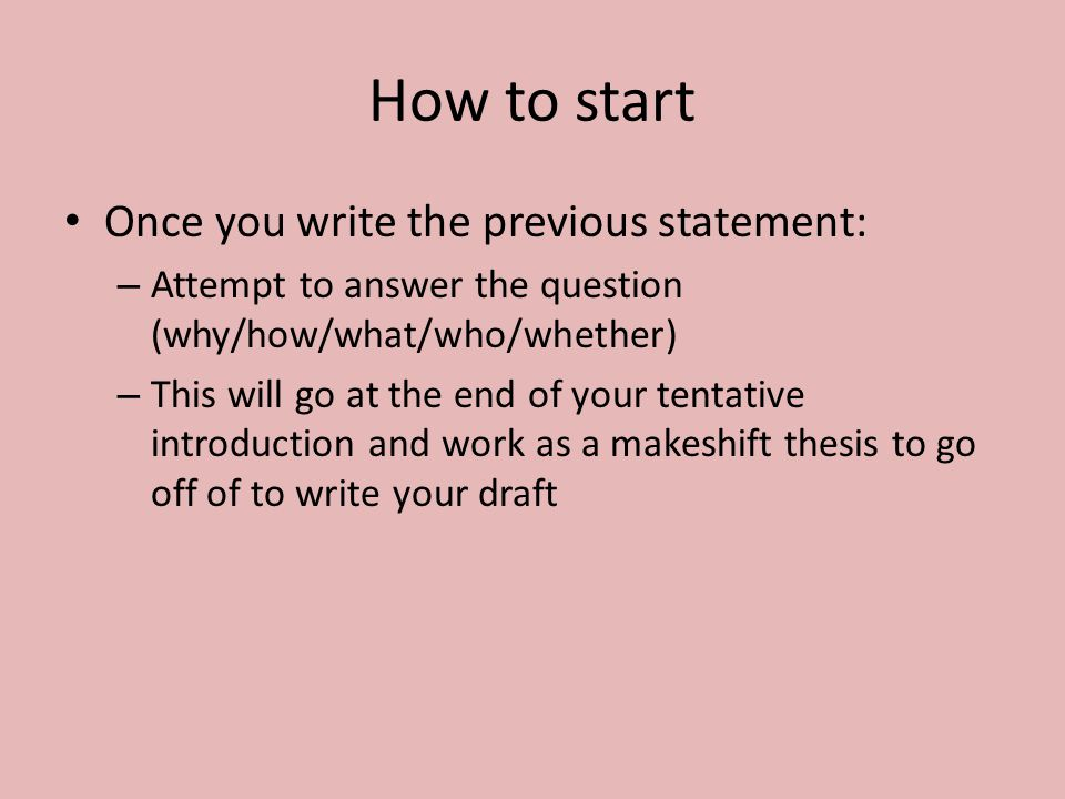 how to start off a writing assignment Legal Stuff
