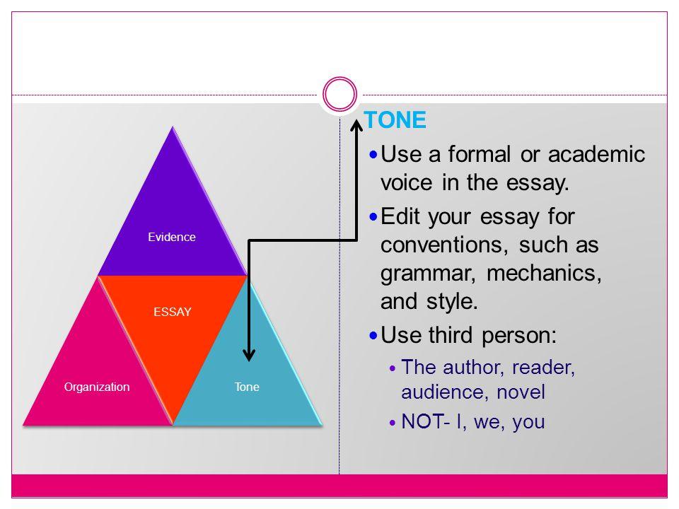 Essay writing : grammatical persons?