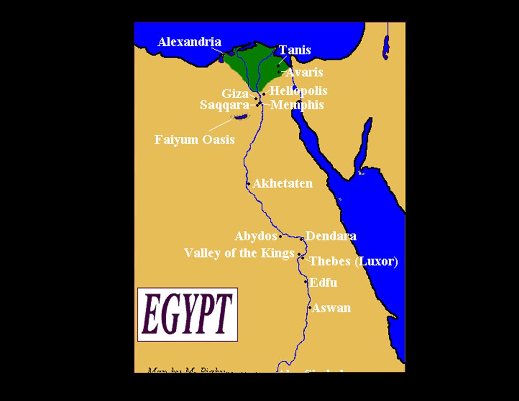 Art Architecture Of Ancient Egypt Image Field Data Collection - Map of egypt valley of the kings