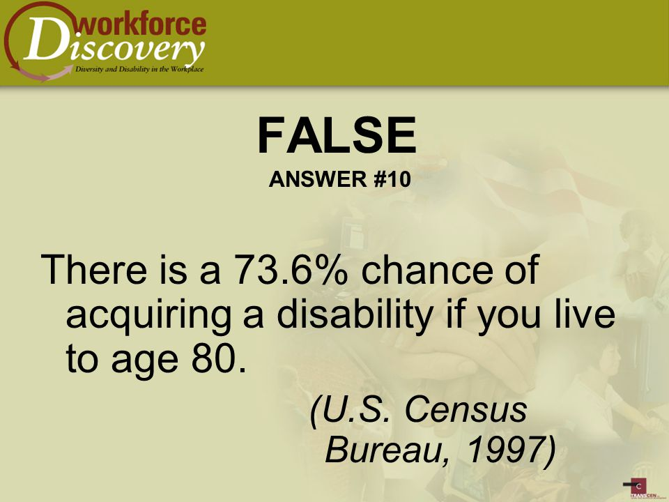 There is a 73.6% chance of acquiring a disability if you live to age 80.