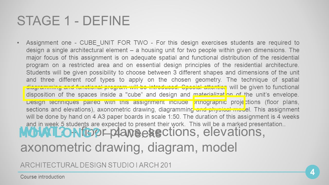 Architectural Design Studio I Arch Cycle Bachelor Of