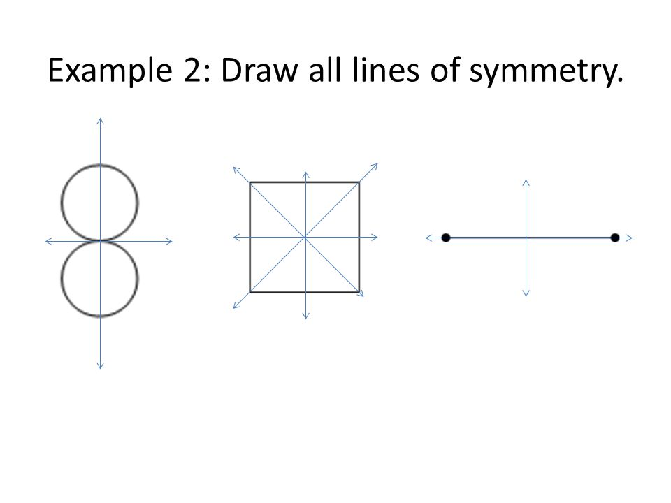 Example 2: Draw all lines of symmetry.