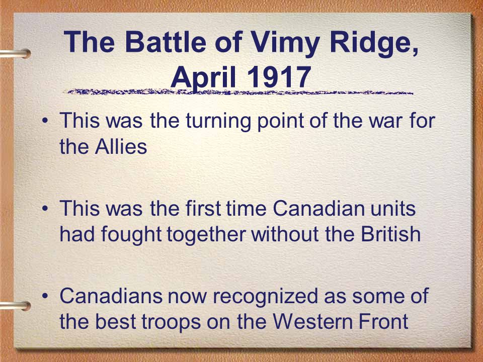 How did Vimy help create a turning point in WW1?