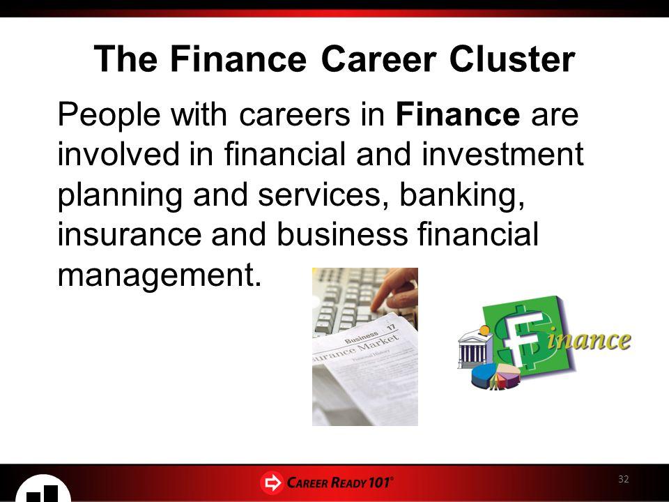 Finance Career Cluster 29538   RIMEDIA
