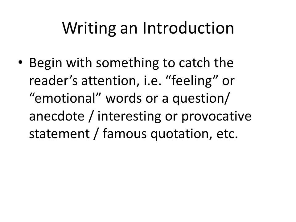 introduction to the essay form