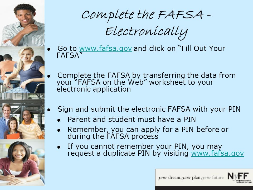 Financial Aid Overview What is Financial Aid Financial Aid is – Fafsa on the Web Worksheet