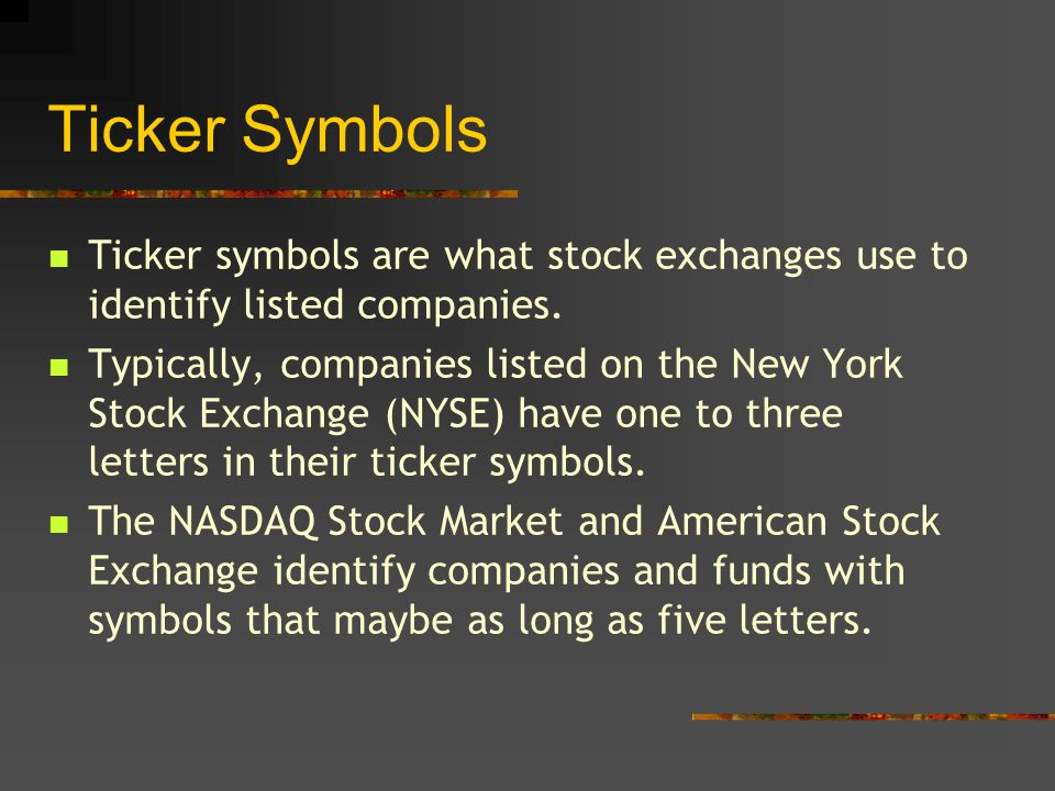 Identifying Symbols And Interpreting Stock Quotes Before You Invest