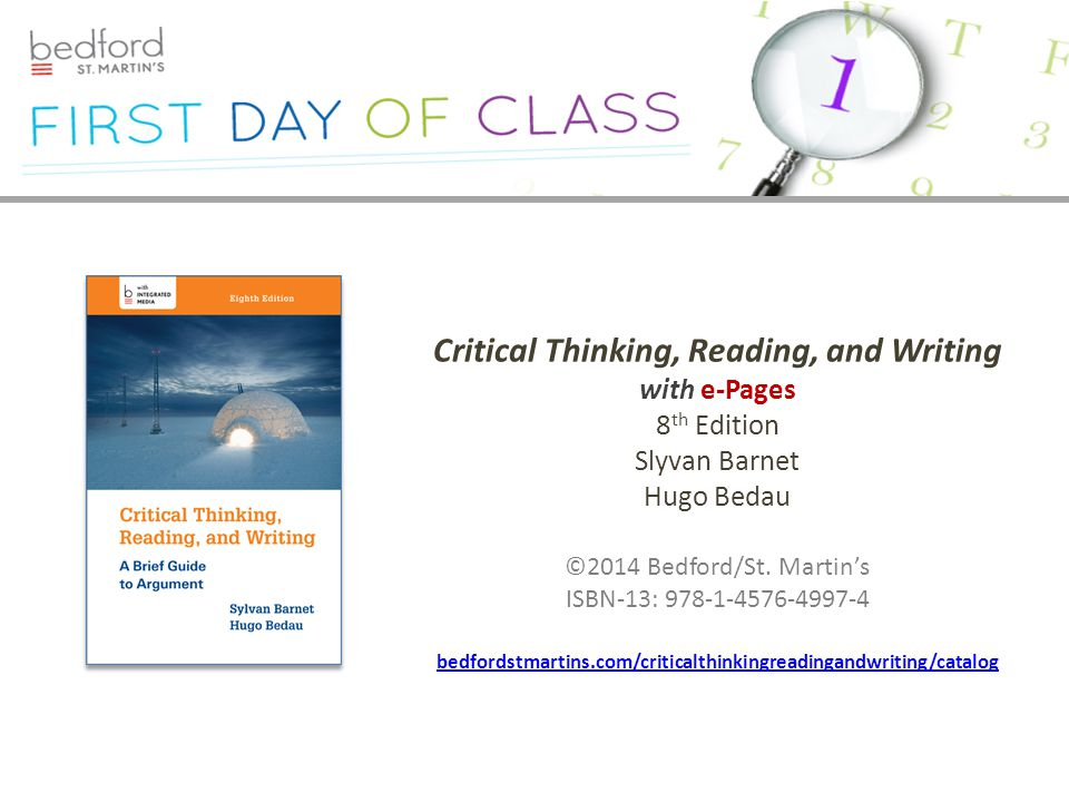 critical thinking reading and writing 8th edition online Forgotten Password?