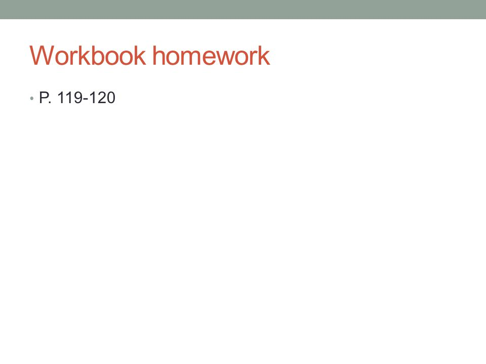 Workbook homework P