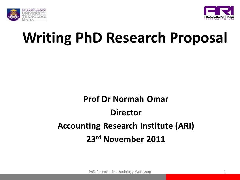 Writing A Phd Proposal