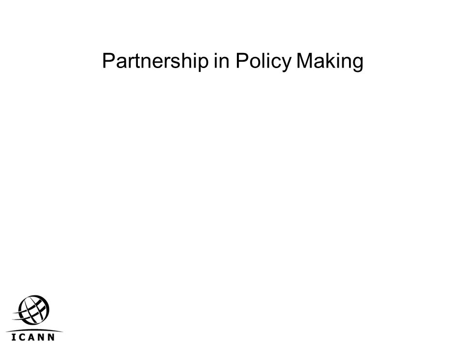 Partnership in Policy Making