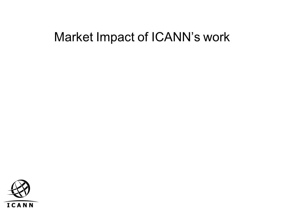 Market Impact of ICANN's work
