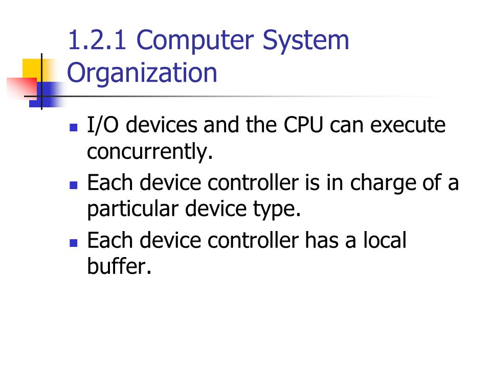 I/O devices and the CPU can execute concurrently.