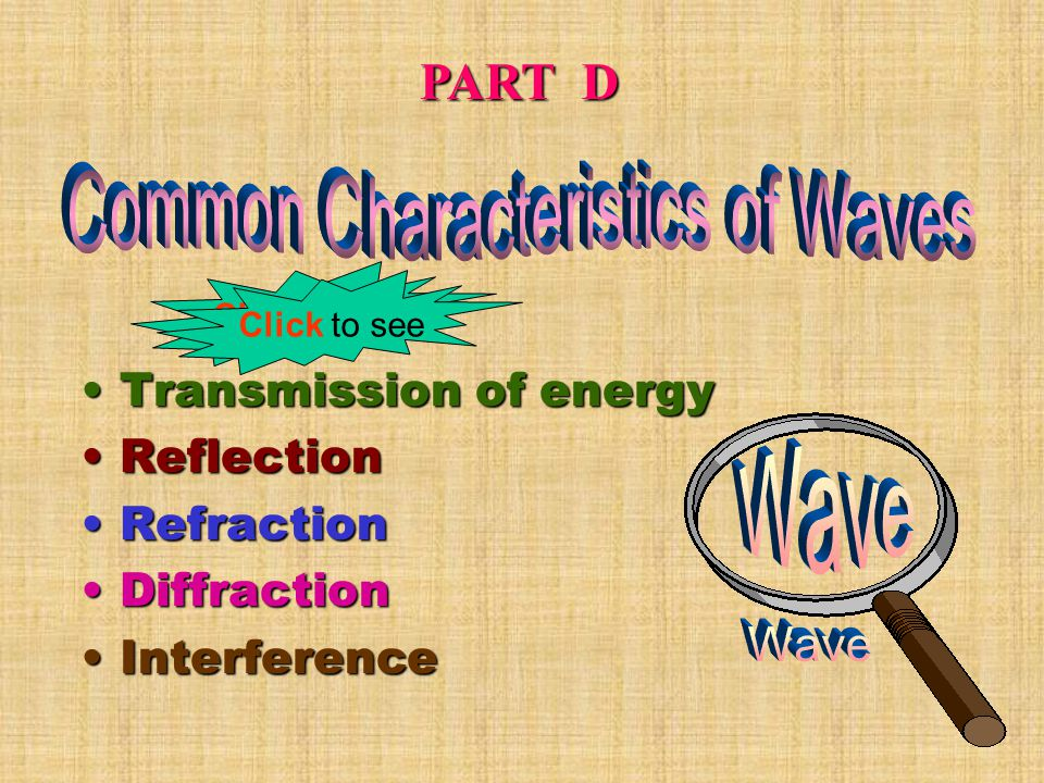 Using the Wave Equation Using the Wave Equation Example : A travelling wave of wavelength 0.6m moves at a speed of 3.0 m/s.