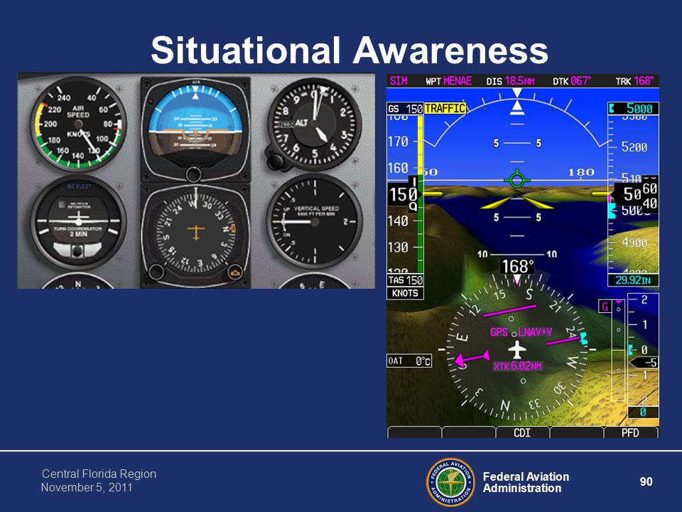 Federal Aviation Administration 90 Central Florida Region November 5, 2011 Situational Awareness
