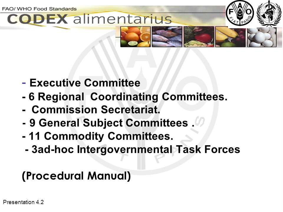 Presentation Executive Committee - 6 Regional Coordinating Committees.