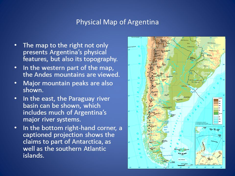 Map Analysis By Luciano Ramirez Population Argentina Contains - Physical map of argentina