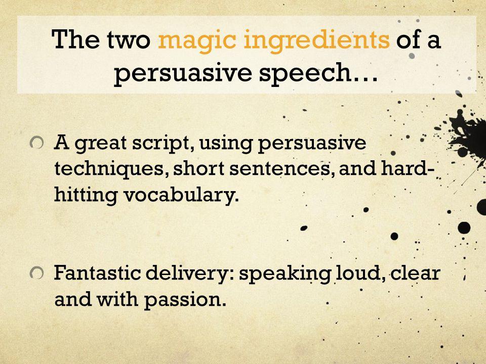 Persuasive speech techniques