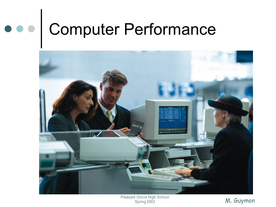 M. Guymon Pleasant Grove High School Spring 2003 Computer Performance