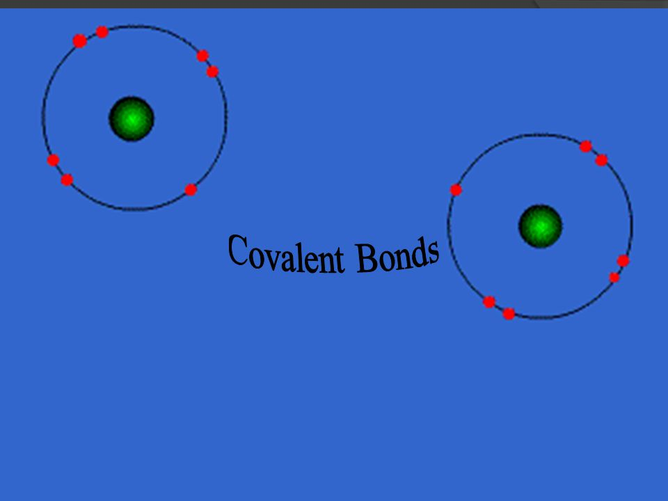 Covalent Bonds  Form between nonmetals  Involves the sharing of electrons  The nonmetals share one or more pairs of electrons to have a full octet  Two types: polar and nonpolar