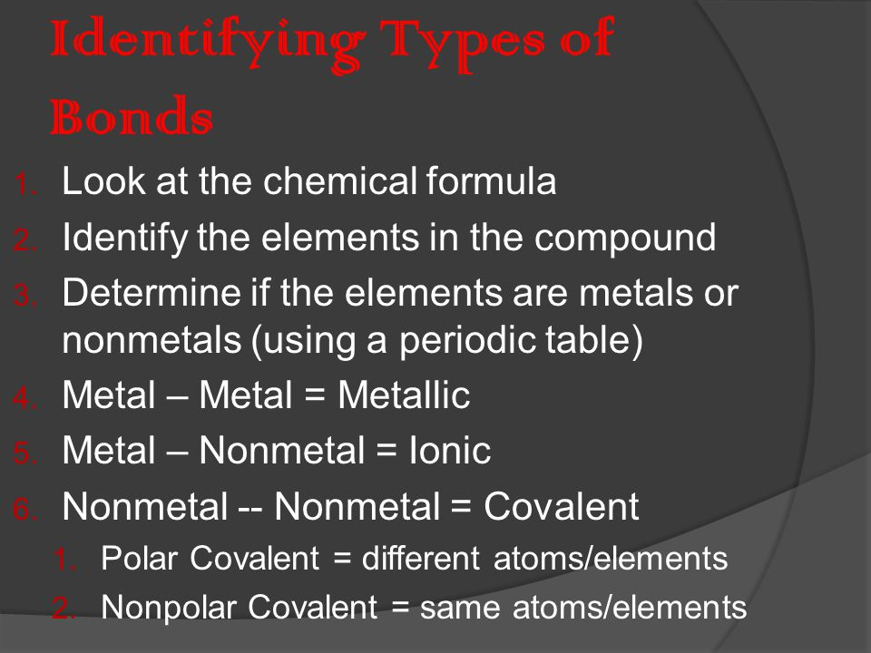 Properties of Metallic Bonds  Form alloys Examples: steel, brass, bronze and pewter  Metals conduct electricity well do to the freedom of the electrons to move.