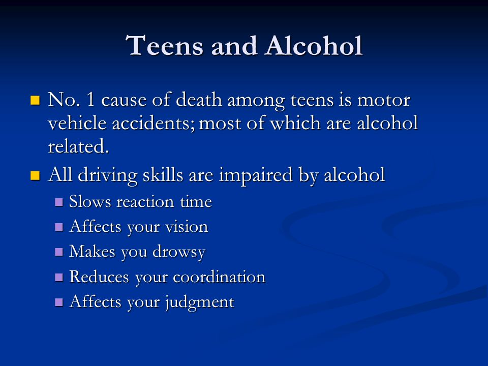 Teens and Alcohol No.