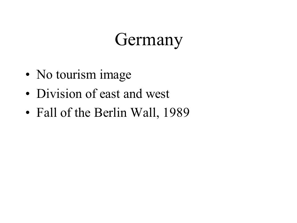 Germany No tourism image Division of east and west Fall of the Berlin Wall, 1989