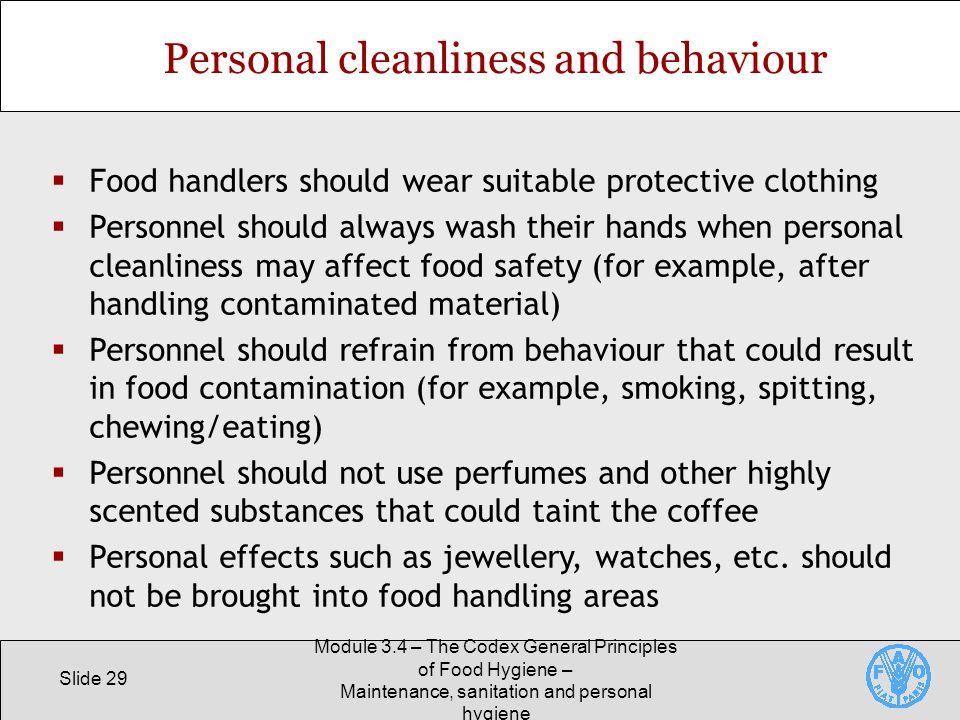 sanitation good personal hygiene