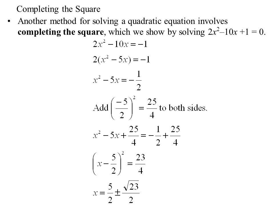 Quadratic equation problem solving examples