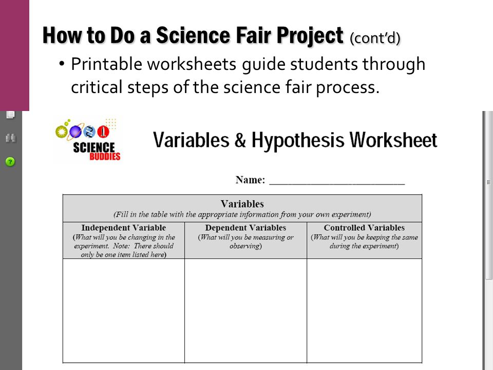 science fair project template science fair project template ...