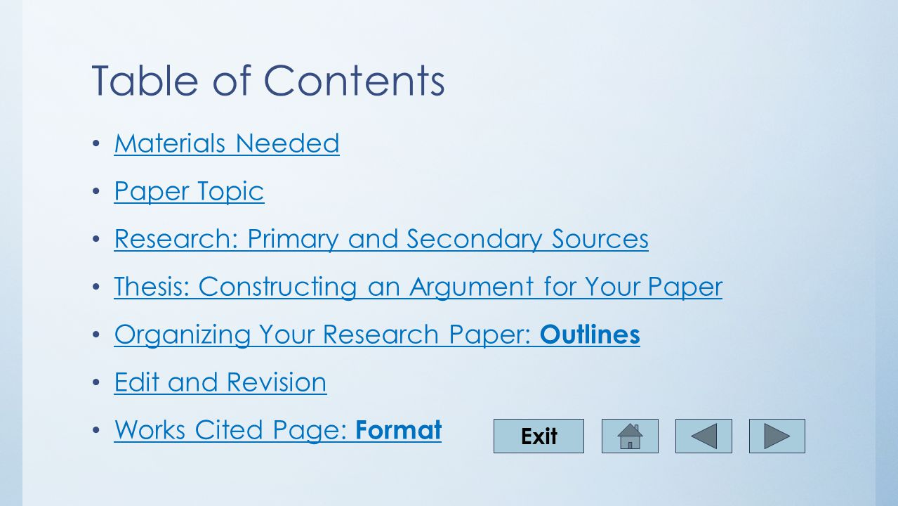 Writing A History Research Paper