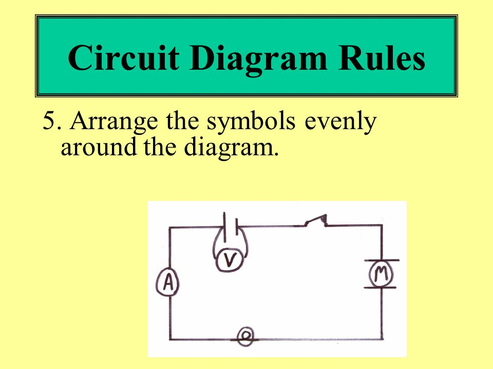 circuit diagram rules 1 always use a ruler 2 be neat and make your rh slideplayer com schematic diagram rules schematic diagram rules