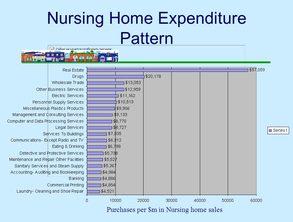 Nursing Home Expenditure Pattern Purchases per $m in Nursing home sales