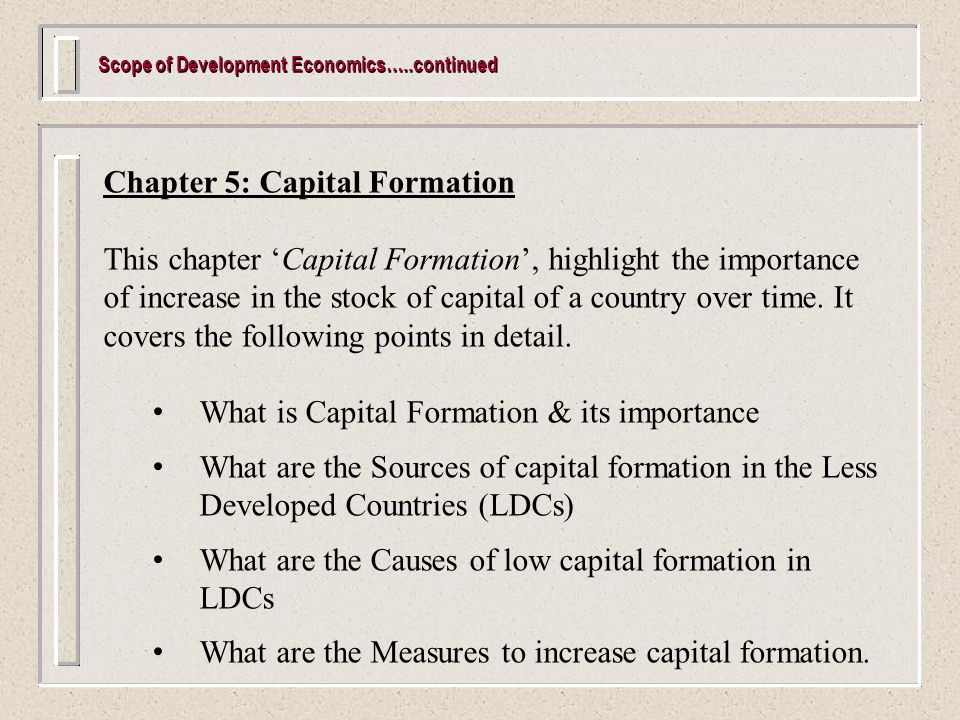 sources of capital formation Foreign direct investment financing of capital formation in transition countries as well as other sources of capital formation financing, namely debt.