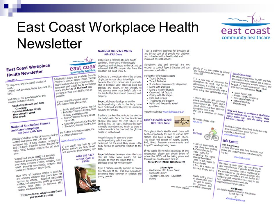 East Coast Workplace Health Newsletter