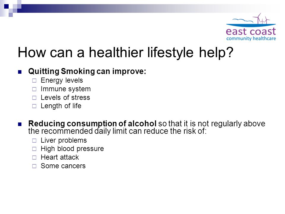 How can a healthier lifestyle help.
