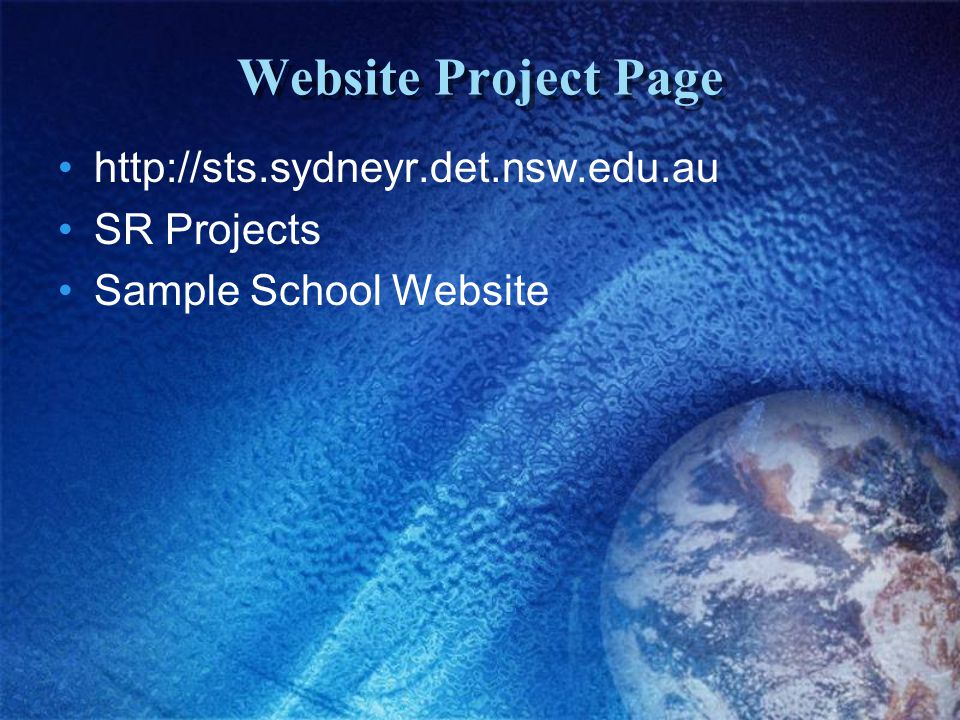 Website Project Page   SR Projects Sample School Website
