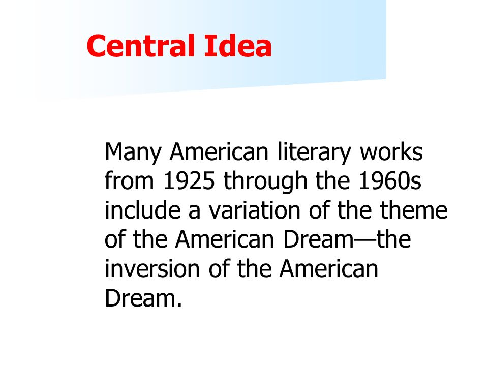 the declination of the american dream essay
