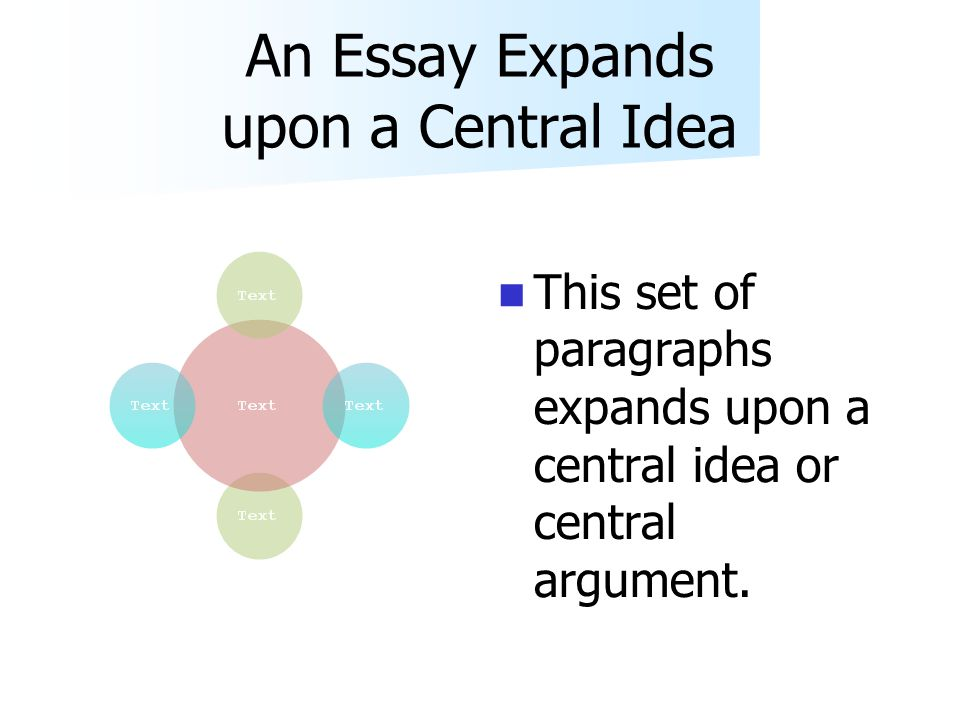 Writing A Thesis Paragraph