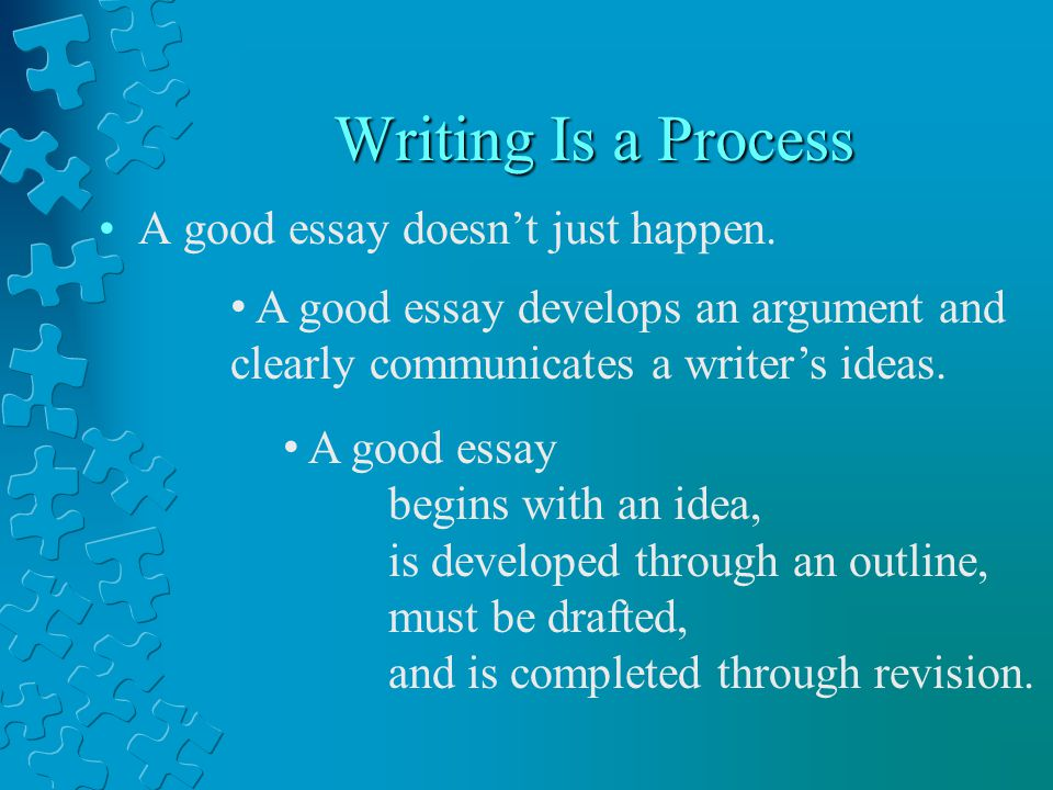 the process of writing an essay