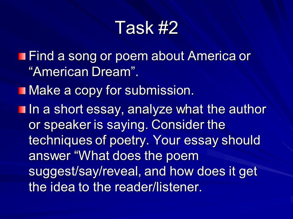 American Dream (unattainable) Essay?
