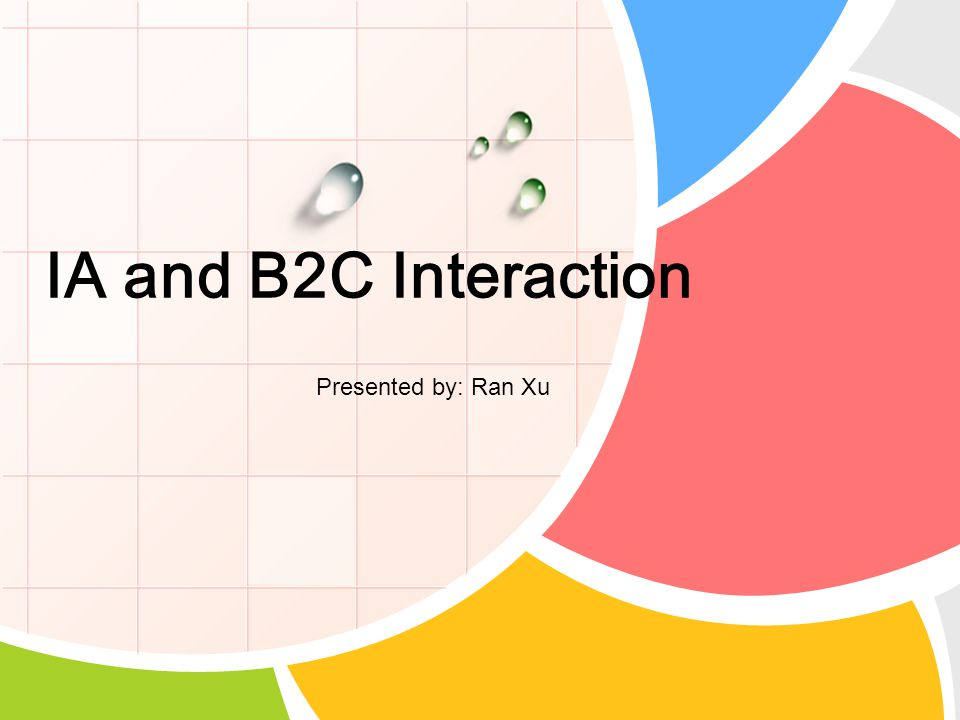 IA and B2C Interaction Presented by: Ran Xu