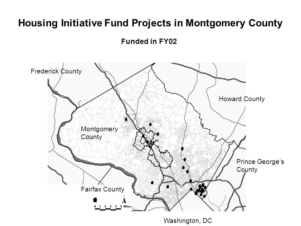 Howard County Montgomery County Frederick County Prince George's County Fairfax County Housing Initiative Fund Projects in Montgomery County Washington, DC Funded in FY02