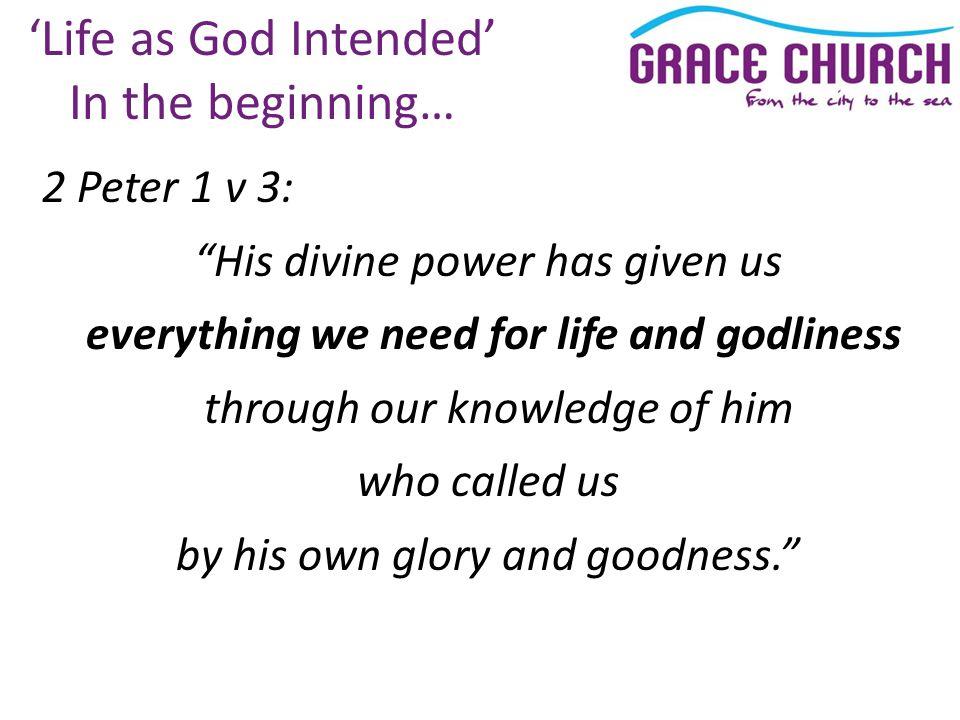 "Presentation ""Steve Petch Sunday 26 th September 2010 Life as God ..."
