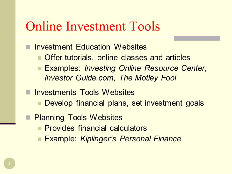 Information about Investing?