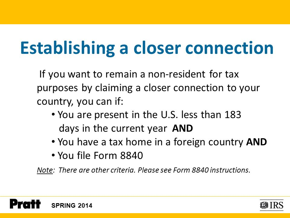 International Students and Scholars Tax Seminar #2 Note: This ...